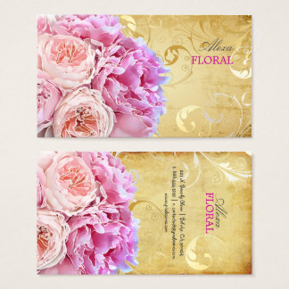 PixDezines vintage peonies bouquets/diy background Business Card
