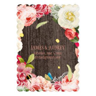 PixDezines vintage peonies, roses/redoute Card