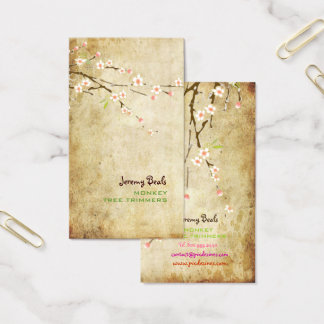 PixDezines VINTAGE PINK CHERRY BLOSSOMS/SAKURA♥♥ Business Card