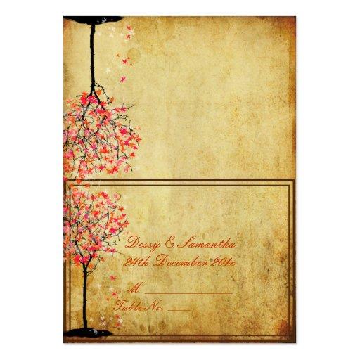 pixdezines vintage pink maple tent place card business card template zazzle
