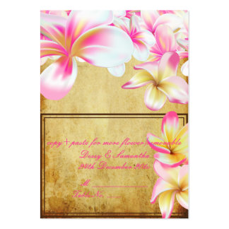 PixDezines vintage pink plume/tent place card Large Business Cards (Pack Of 100)