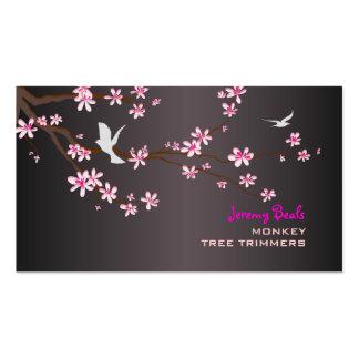 PixDezines vintage/pink sakura tree trimmers ♥♥♥ Business Card Template