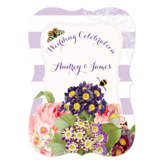 PixDezines vintage purple primrose Card