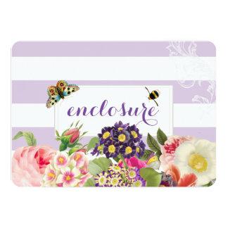 PixDezines vintage purple primrose/enclosure cards