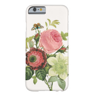 PixDezines vintage rose, clementine, anemone Barely There iPhone 6 Case
