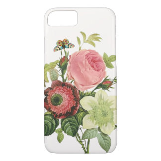 PixDezines vintage rose, clementine, anemone iPhone 7 Case