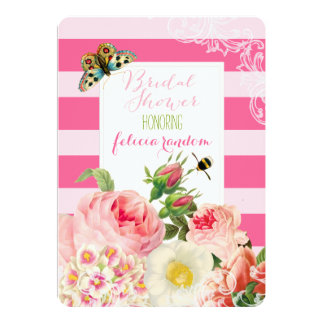 PixDezines vintage roses/bridal shower/ Card