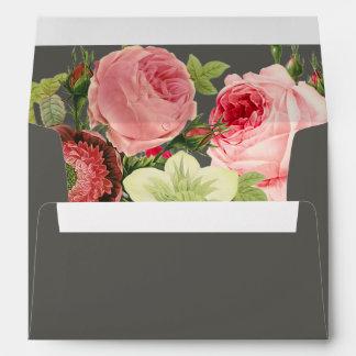 PixDezines Vintage Roses/DIY color Envelope
