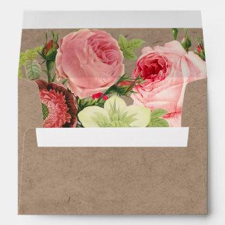 PixDezines Vintage Roses/Faux Craft Envelopes