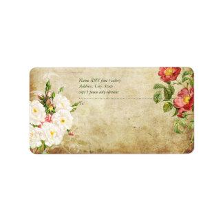 PixDezines Vintage Roses/Faux Parchment Label