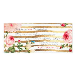 PixDezines Vintage Roses+Peonies/Stripes Card