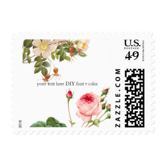 PixDezines Vintage Roses/Redoute Illustration Stamp