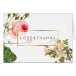 PixDezines Vintage Roses/Redoute/Thank You Stationery Note Card