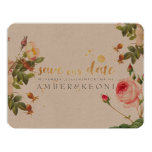 PixDezines vintage roses/save our date Card