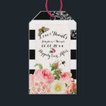 "PixDezines vintage roses/victorian/DIYbackground Gift Tags<br><div class=""desc"">PixDezines dynamic design.. black and white stripes with vintage roses and peonies illustrated by pierre joseph redoute. It is perfect for a bridal brunch / bridal shower .. all customizable including background color, fonts and fonts colors... . Easy to customize. Copyright © 2014-2015, PixDezines.com™ and PixDezines™ on Zazzle.com. All rights...</div>"