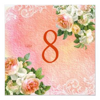 PixDezines vintage roses/watercolor/table numbers Card