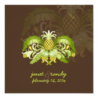 PixDezines Vintage Royal Hawaiian pineapples Invitation