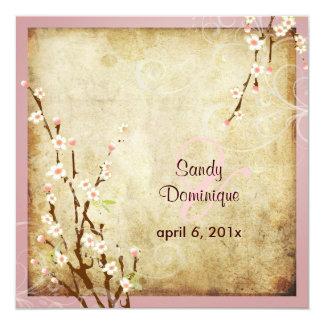 PixDezines Vintage Sakura, DIY colors! Personalized Invitations