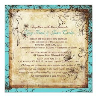 PixDezines Vintage Secret Garden, fall wedding Card