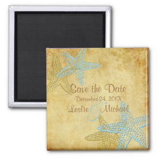PixDezines Vintage starfish, Save the Date Magnet