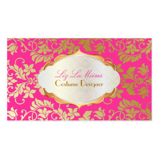 PixDezines vintage tanza damask/faux gold+pearl Double-Sided Standard Business Cards (Pack Of 100)