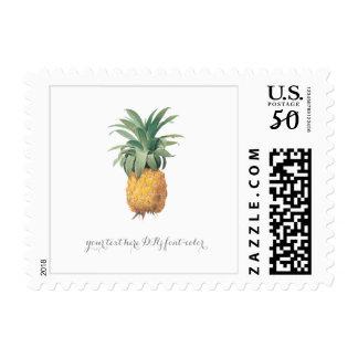 PixDezines Vintage Tropical Pineapples Postage