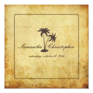 PixDezines Vintage Twin Palms, Bahama Style Card