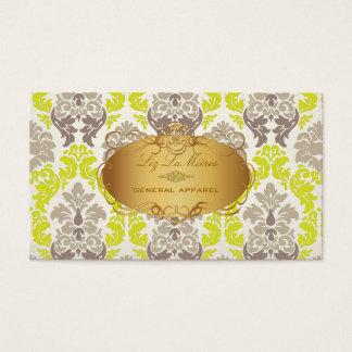PixDezines vintage versailles damask Business Card