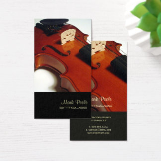 PixDezines violin/diy color Business Card