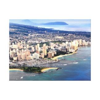 PixDezines Waikiki from window seat.. Canvas Print
