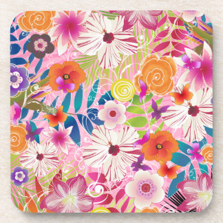 PixDezines wailea/DIY background color Drink Coaster