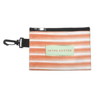 Dark Pink Yellow Orange Cheetah Abstract Accessory Bag