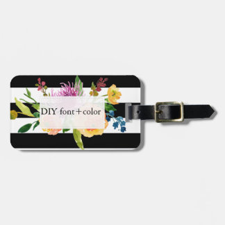 PixDezines watercolor/floral Luggage Tag