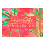 PixDezines Watercolor Vintage Hawaii/Save the Date Card