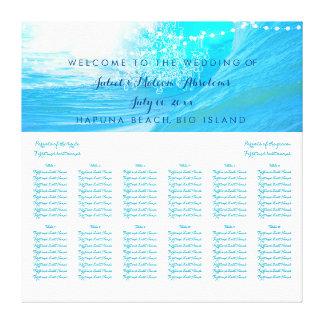 PixDezines waves/beach/wedding seating chart Canvas Print