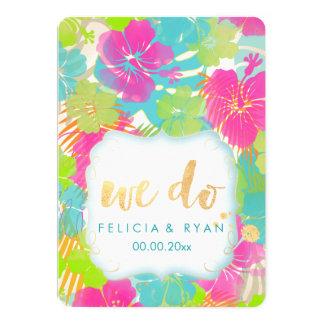 PixDezines we do hibiscus/luau/faux parchment Card