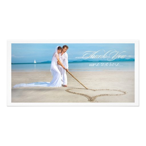 PixDezines wedding photo thank you Photo Greeting Card