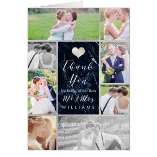PixDezines Wedding Photos Thank You/Blue Marble Card