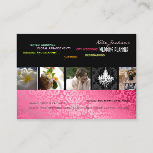 Pixdezines Wedding Planner Diy Color Fonts Business Card