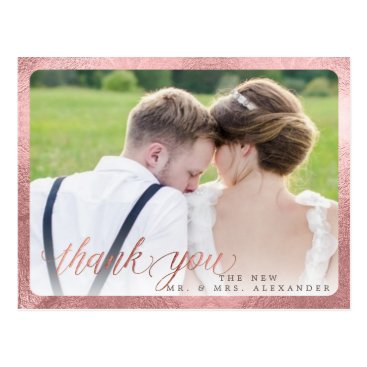 Beach Themed PixDezines Wedding Thank You/Fun Script Postcard