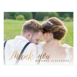 Wedding Photo Thank You Card
