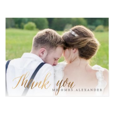 pixdezines PixDezines Wedding Thank You/Fun Script Postcard