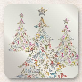 PixDezines Whimpsy Christmas Tree Beverage Coasters