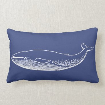 Beach Themed PixDezines white blue blue whale/diy background Lumbar Pillow