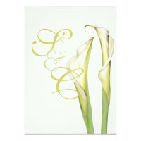 PixDezines white calla lilies/diy background Invitation