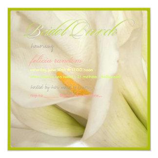 PixDezines white calla lily/bridal brunch Personalized Invite