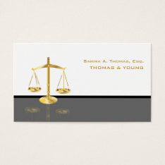 PixDezines WHITE+GREY ATTORNEYS/DIY COLORS Business Card at Zazzle