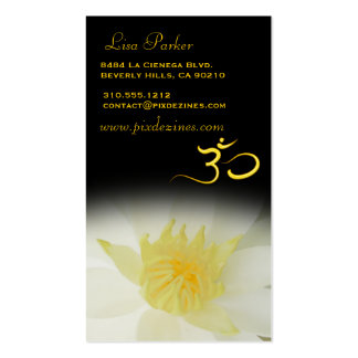 PixDezines white Lotus, Om yoga, healers Double-Sided Standard Business Cards (Pack Of 100)