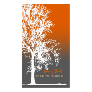PixDezines white oak Tree Trimmers ♥♥♥♥ Double-Sided Standard Business Cards (Pack Of 100)