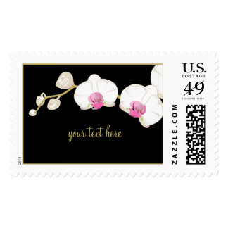 PixDezines White Orchid / Customizable Postage
